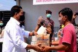 Forpimda Kota Magelang salurkan paket sembako kepada pekerja pada Hari Buruh