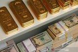Harga emas jatuh 21,5 dolar tertekan penguatan