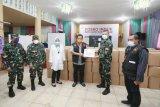 Kodim 1408/BS Makassar serahkan bantuan 3.000 APD COVID-19