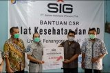 SIG bersama Satgas Bencana Nasional BUMN Jateng serahkan bantuan alkes dan APD