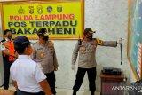 Polres Lampung Selatan putar balik ratusan kendaraan penumpang yang hendak menyeberang