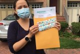 Relawan Diaspora Indonesia di Amerika Serikat  produksi masker tangkal corona