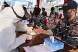KRI Teluk Lampung-540 sandar di Dermaga Boom Baru Palembang, 62 ABK langsung rapid test