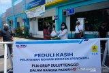 Perokris PLN Suluttenggo membagikan ribuan sembako pandemi COVID-19