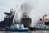 Korban dua orang meninggal kebakaran kapal tanker belum diketahui identitasnya