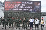 450 prajurit Yonif Raider Kodam Sriwijaya diberangkatkan jaga perbatasan RI-Malaysia di Kaltim
