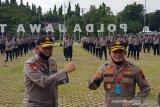 Jajaran Polda Jateng lepas mantan Kapolda Irjen Rycko Amelza Dahniel