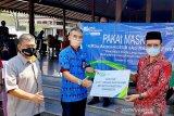BPJAMSOSTEK Puwokerto bagikan paket sembako untuk korban PHK