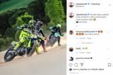 Valentino Rossi dan Andrea Dovizioso kembali menunggangi motor balap setelah pelonggaran lockdown di Italia