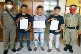 Satpol PP Kapuas beri sanksi pemuda tidak menggunakan masker