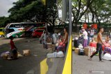 Tidak terlihat aktivitas penumpang di Terminal Daya Makassar jelang Lebaran