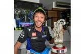 Berkat Quartararo jatuh, Rossi rayakan podium Grand Prix Virtual di Misano