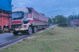 Dua truk bermuatan kayu ilegal diduga hasil perambahan hutan diamankan Polda Jambi