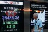 Saham Hong Kong menghentikan kenaikan 6 hari, indeks STI turun 0,32 persen