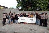 Alumni SMU I dan Polres Sarmi bagikan masker dan takjil