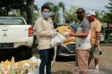 IJTI Sumsel bantu paket sembako dan masker untuk masyarakat terdampak COVID-19
