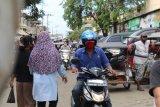 Dua hari jelang Idul Fitri pasar tradisional di Bandarlampung ramai pembeli