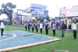 Polda Sumsel gelar pasukan pengamanan Idul Fitri dan ucapan selamat Lebaran