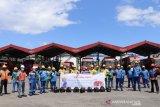 Pertamina MOR VII bantu sembako dan masker untuk warga Bitung-Sulut