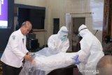 Anggota Polres se-Sumsel belajar cara memandikan jenazah korban COVID-19