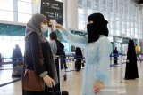 Jamaah haji dari lima kota di Arab Saudi tiba di Bandara King Abdulaziz