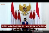 Presiden Jokowi pimpin upacara peringatan Hari Lahir Pancasila secara virtual