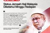 Malaysia tunggu Arab Saudi tentang keberangkatan haji pada 2020