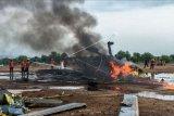 Helikopter TNI AD jatuh di Kendal dalam misi latihan terbang calon perwira
