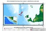 BMKG monitor rentetan gempa  di Selat Sunda