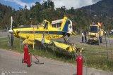 Pesawat Pelita Air tergelincir di Karubaga