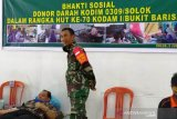 Wawako Solok ikuti donor darah di Kodim 0309 Solok