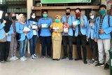 Mahasiswa Riau relawan COVID-19 serahkan bantuan ke Puskesmas