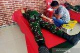 Yonif 711 gelar donor darah peringati HUT ke-62 Kodam XIII Merdeka