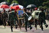 Prosesi pemakaman mantan KSAD  yang sederhana