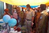 Penerapan normal baru di Pasar Sungai Aur, Gubernur: pedagang dan pengunjung patuhi protokol kesehatan