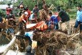Evakuasi korban tanah longsor Rumbia