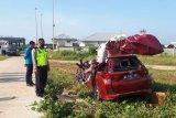 Dua tewas dalam kecelakaan terjadi di KM 82+000 jalur ruas tol Bakauheni-Terbanggi Besar