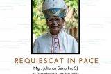 Mantan Uskup Purwokerto Monsinyur Julius Sunarko tutup usia