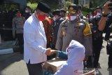 Wagub Sumbar hadiri bakti sosial peringatan hari Bhayangkara Ke-74, sesuai protokol kesehatan