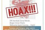 Hoaks, Kota Bogor zona hitam