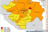 Kota Palembang satu-satunya zona merah COVID-19 di Sumsel