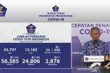 Update COVID-19 di Indonesia:  24.806 orang sembuh, 56.385 positif