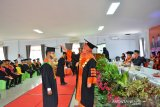 261 mahasiswa Unbara OKU ikuti wisuda sesuai protokol kesehatan