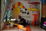 Pesawat mainan remote control buatan pemuda Lampung Timur terbang sempurna