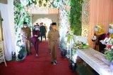 Bupati Pringsewu hadiri acara simulasi resepsi pernikahan normal baru