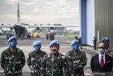 Pelepasan jenazah prajurit gugur di Kongo usai dihadang kelompok bersenjata