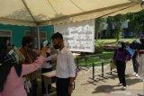 Peserta UTBK di Palembang harus melalui dua kali cek suhu tubuh