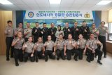 Perwira Polri terima kenaikan pangkat di Korea Selatan