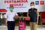 Pertamina salurkan bantuan bagi korban banjir di Gorontalo.