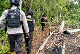 Polisi Jayapura gelar patroli jalan kaki di Skouw perbatasan RI-PNG